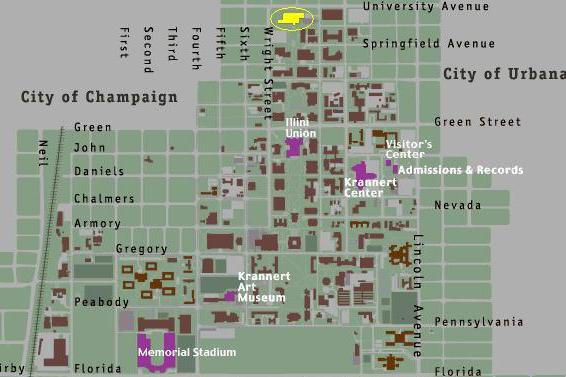 Contact Info | Cognition and in Lab on boston university map, depaul map, u of illinois school, ohio state map, purdue map, u of illinois logo, uiuc map, u of illinois seating chart, columbia university map, u of chicago illinois, florida state map, university of illinois champaign map,
